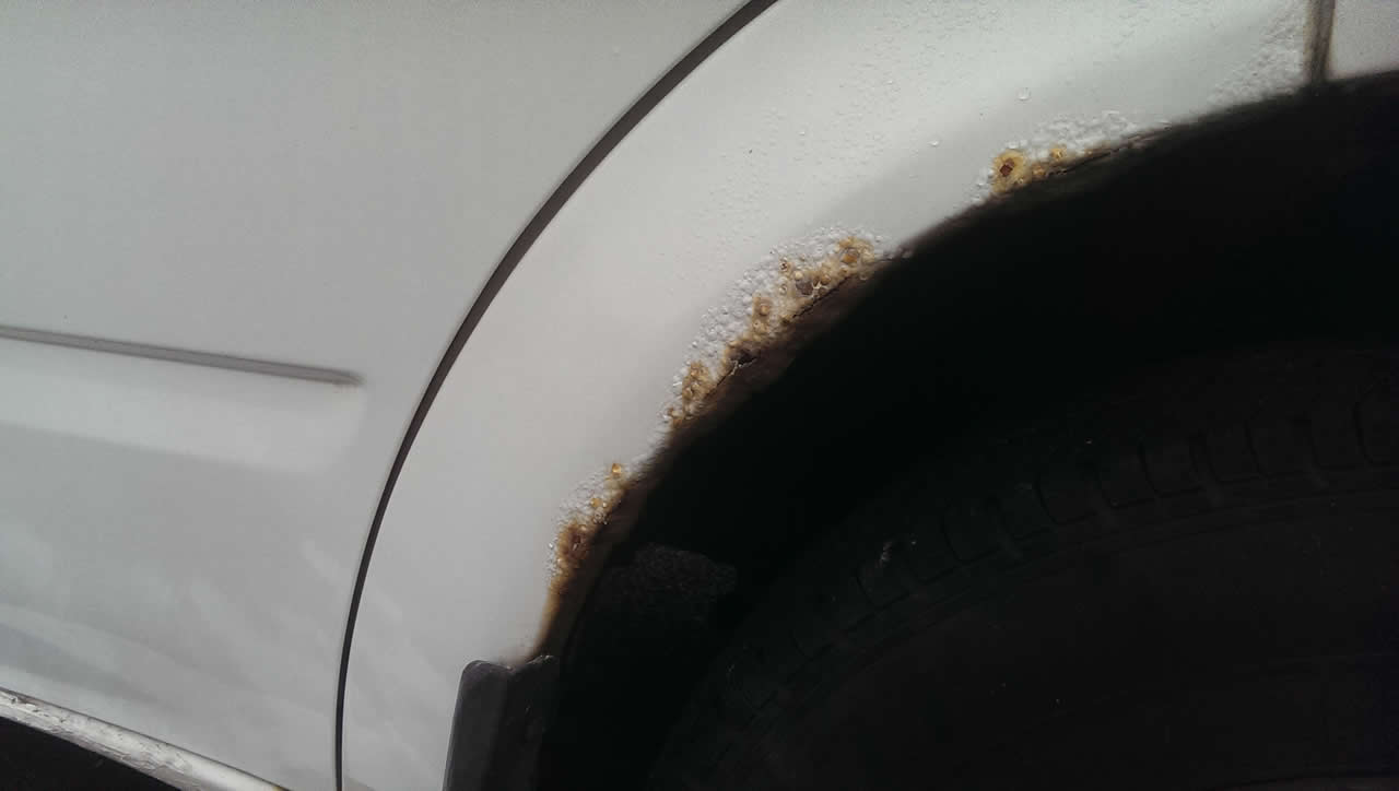 A clean car prevents rust forming