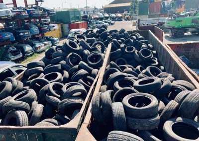 Car tyre recycling