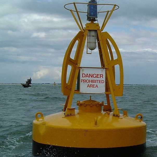 A warning buoy for SS Richard Montgomery